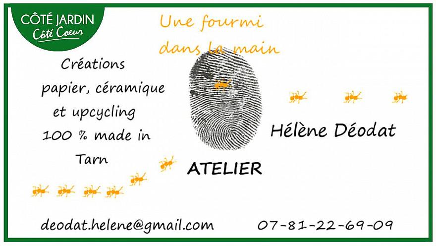 Hélène Déodat a une Fourmi dans la Main - rencontre avec une artiste de la porcelaine.